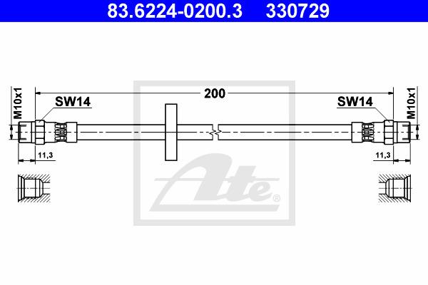 Jarruletku ATE 83.6224-0200.3