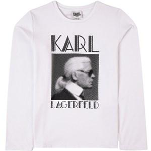 Karl Lagerfeld Kids Mini Me Logo Print Tröja Vit 4 år