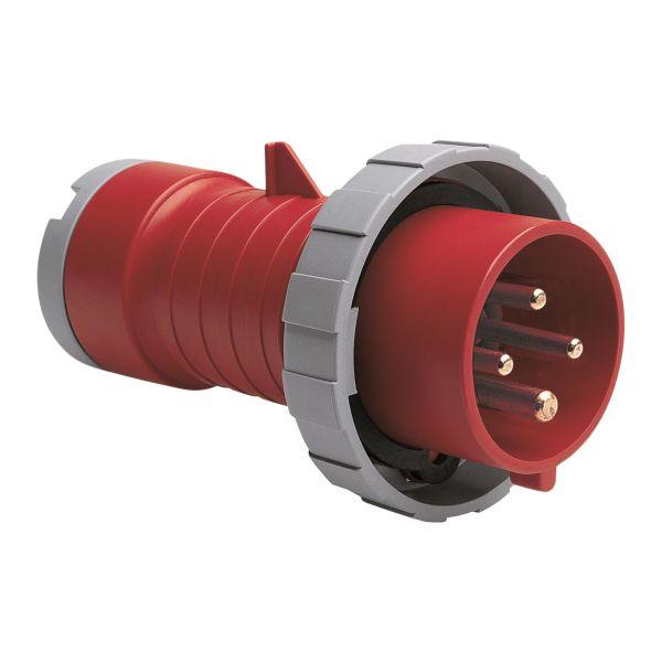 ABB 2CMA166476R1000 Støpsel IP67, 16 A, skrueklemme 4-polet, rød