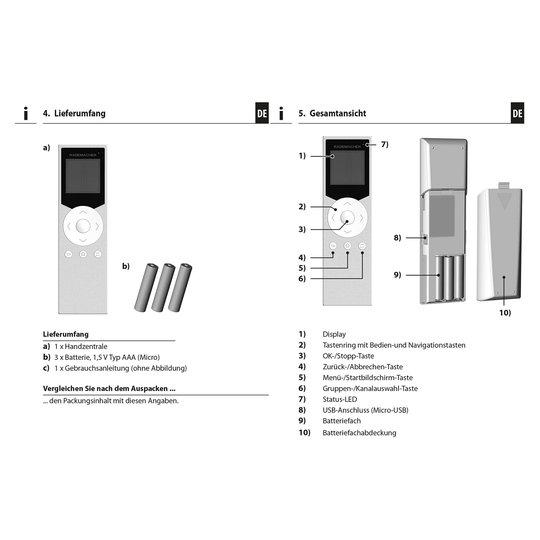 Rademacher DuoFern Handzentrale -kaukosäädin