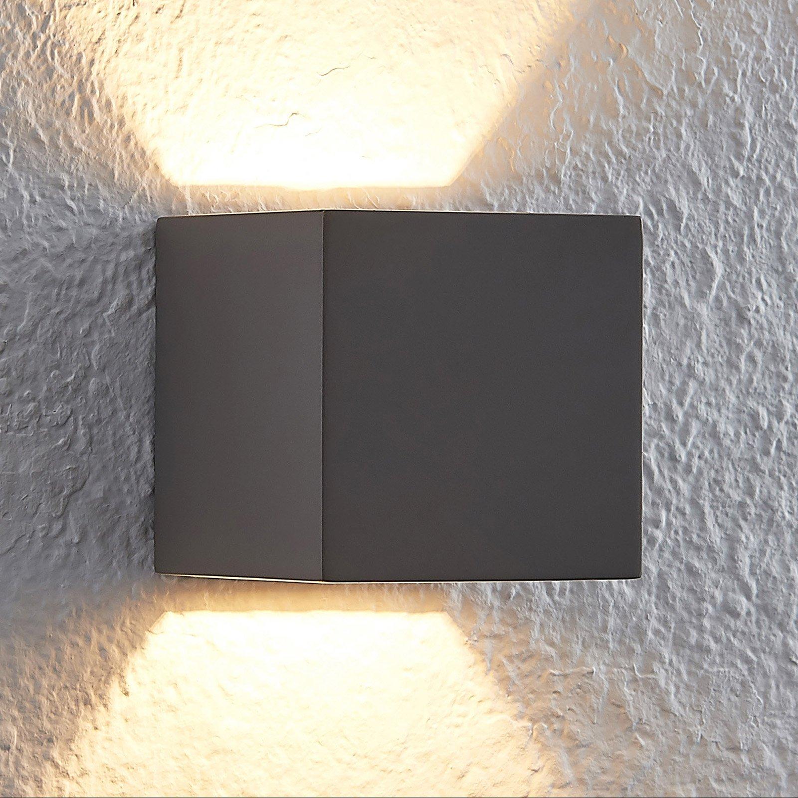 Lindby Quaso LED-vegglampe av betong, grå