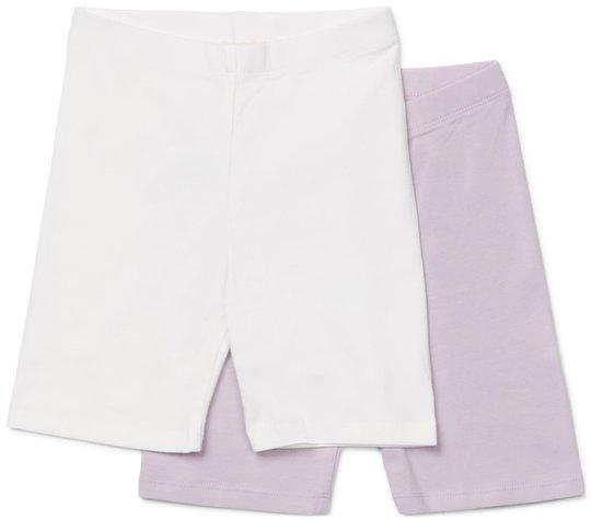 Petite Chérie Atelier Anna Sykkelbukse 2-Pack, Purple/White 122-128