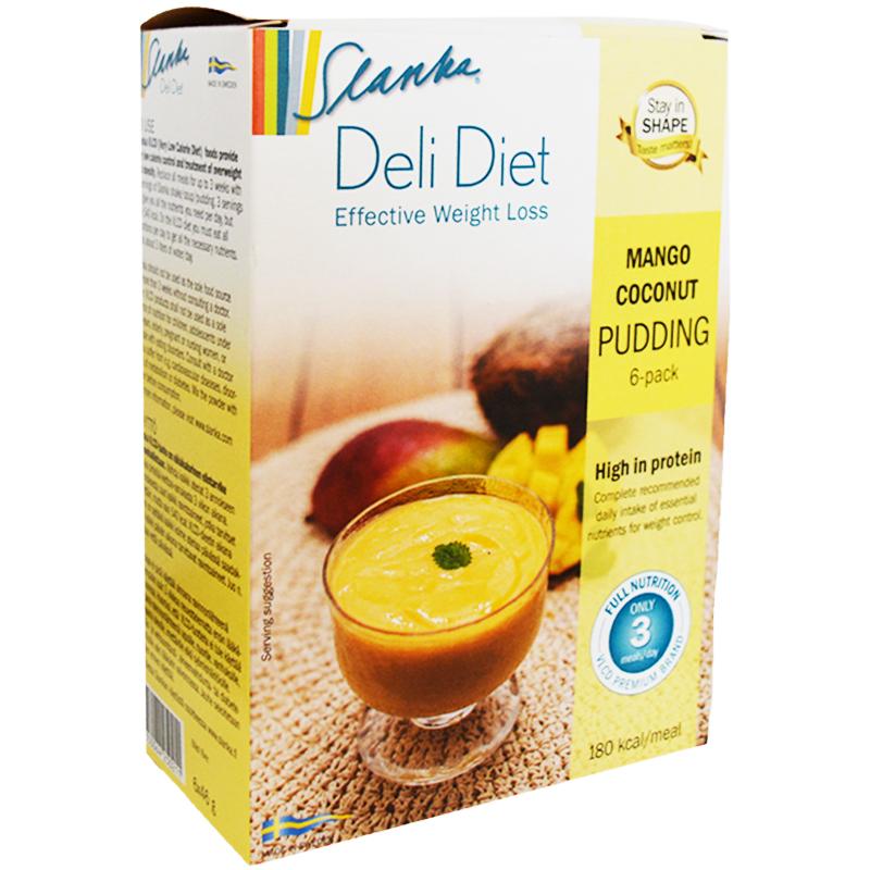 "Ateriankorvike ""Mango & Coconut Pudding"" 6 x 46 g - 20% alennus"