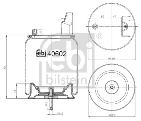Metallipalje, ilmajousitus FEBI BILSTEIN 40602