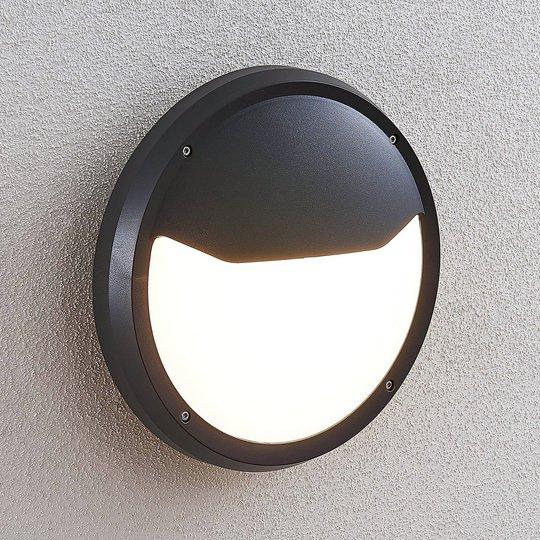 LED-ulkoseinälamppu Luan, IP65, tummanharmaa