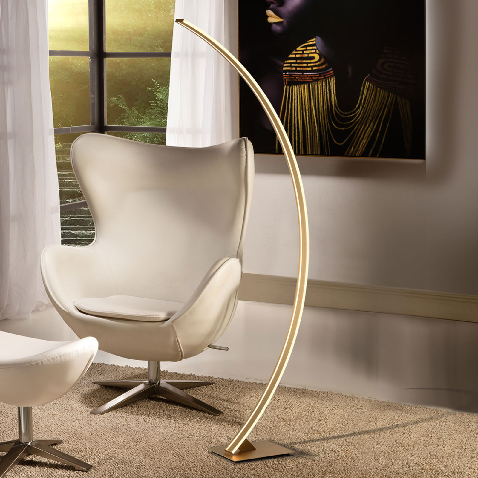 LED-Bogen-kaarilamppu Arcus, kultaviimeistely