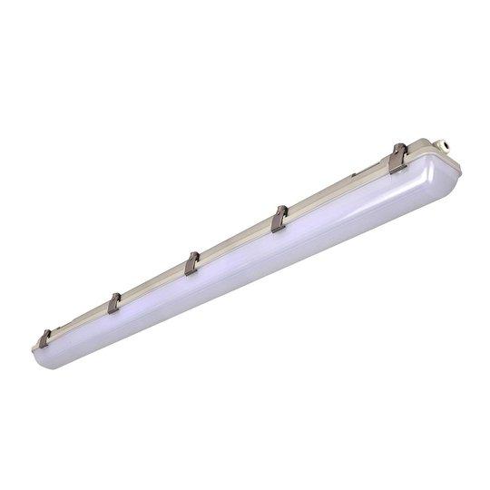 LED-våtromslampe 659, grå, 126 cm, 40 W