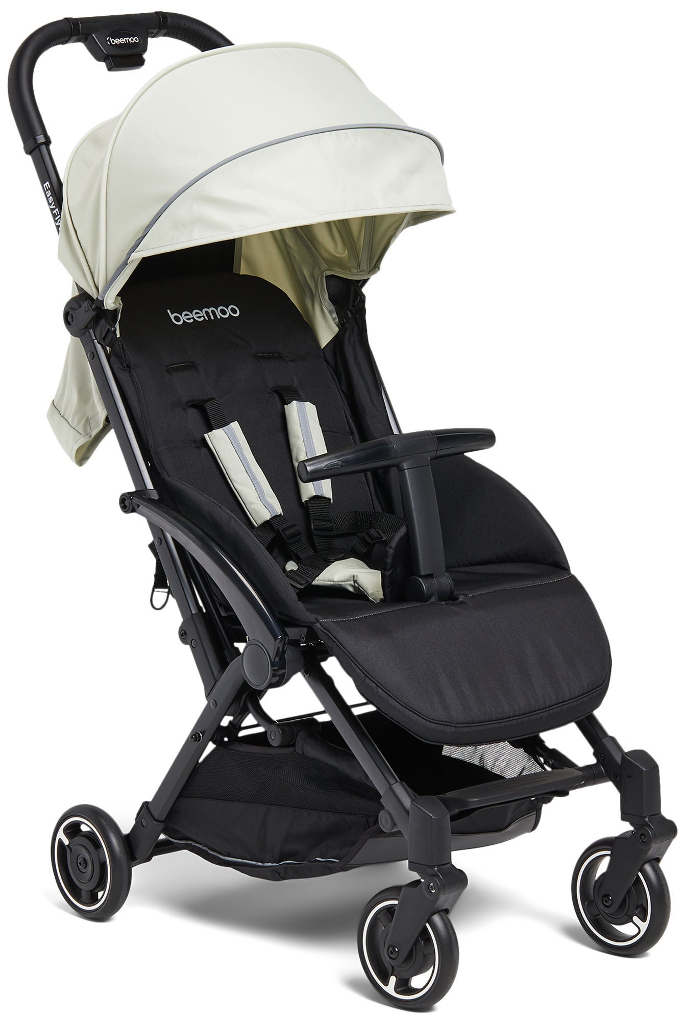Beemoo Easy Fly Lux 2 Lastenrattaat, Mineral Gray