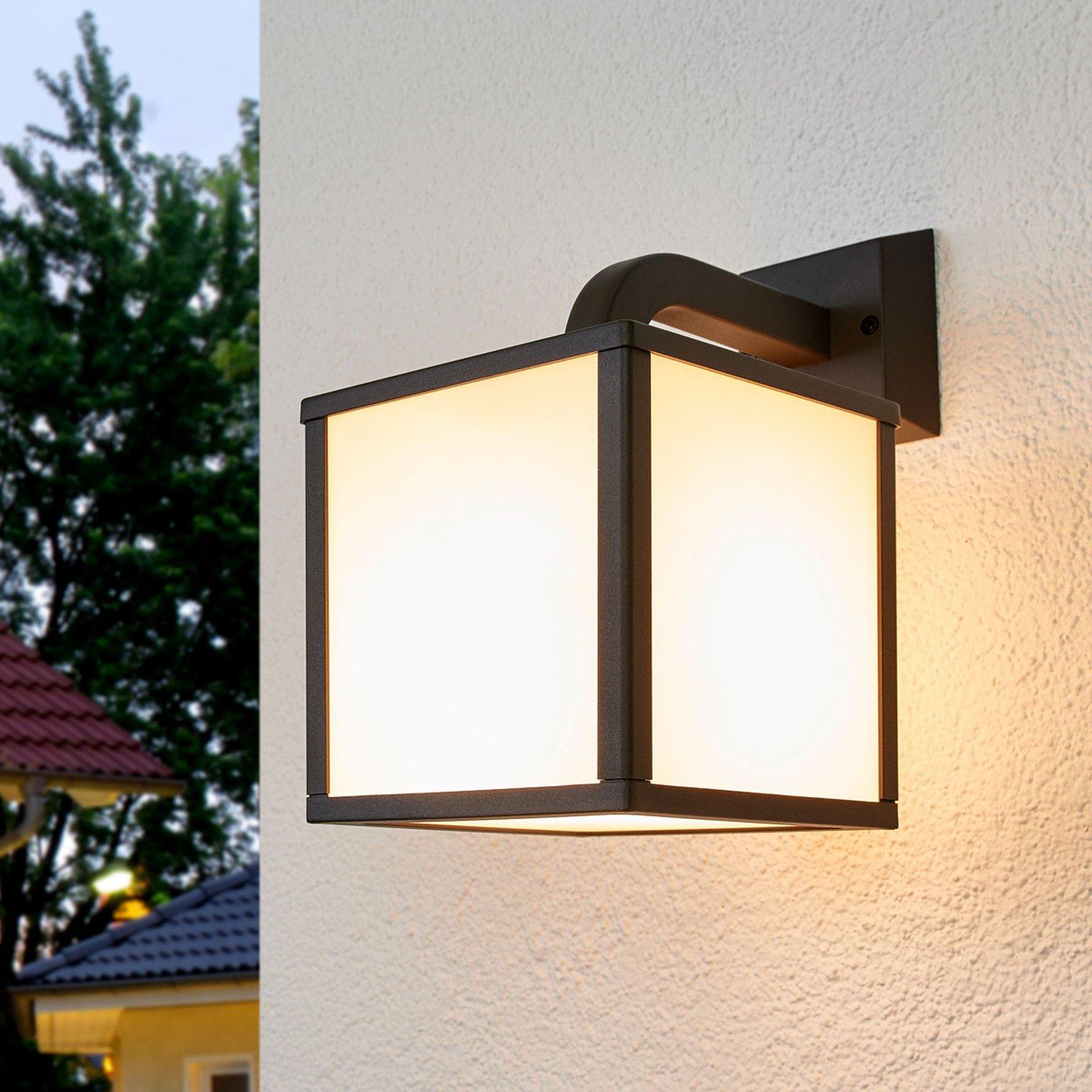 Utendørs LED-vegglampe Cubango, én kubeskjerm