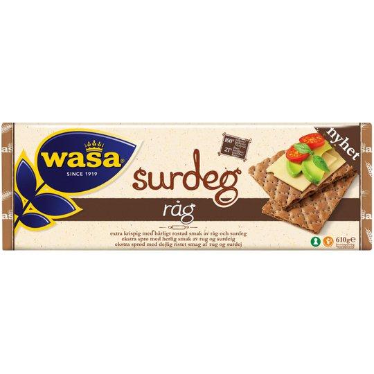 """Knäckebröd """"Surdeg Råg"""" 610g - 63% rabatt"""