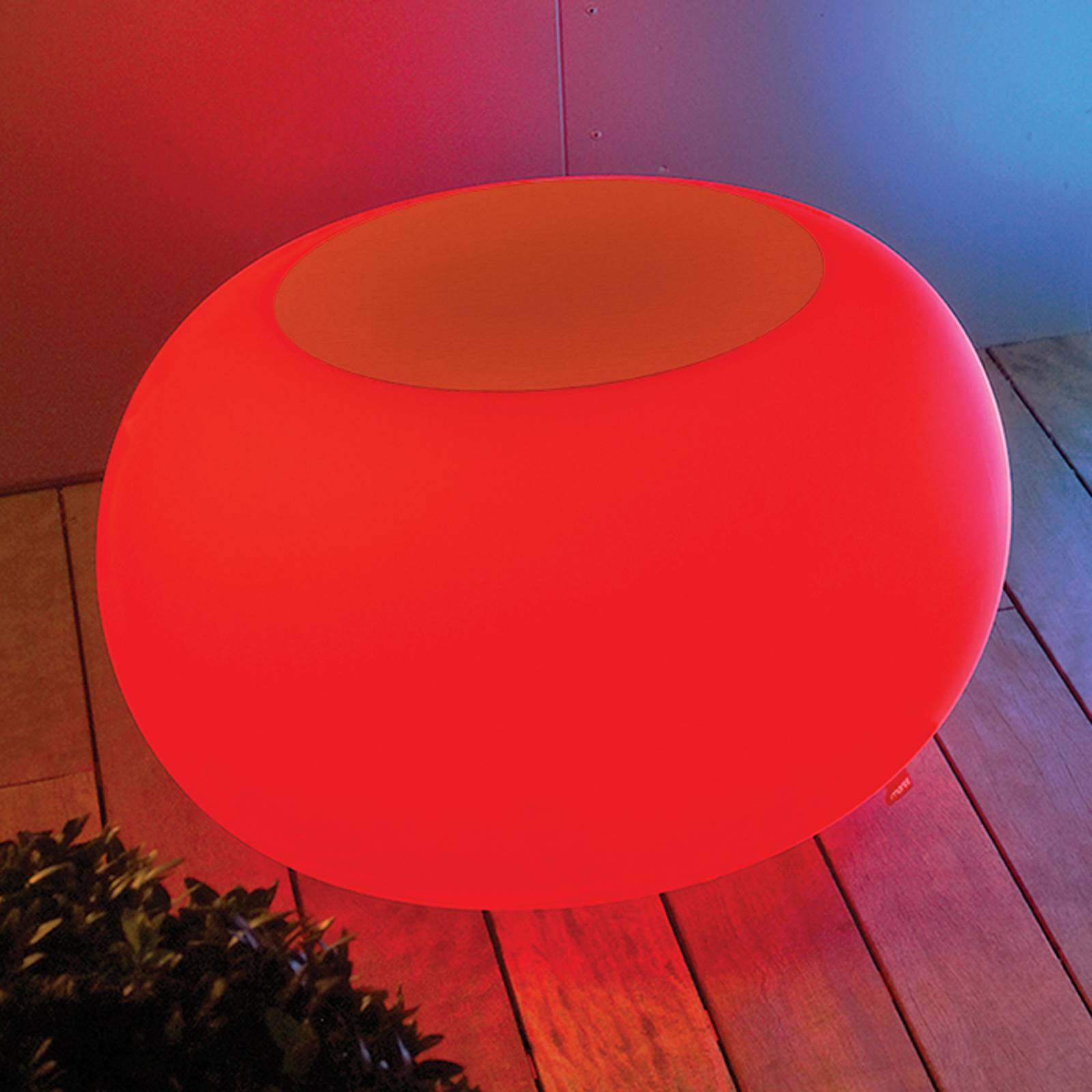 Bubble Outdoor LED pöytä LED RGB + huopa oranssi