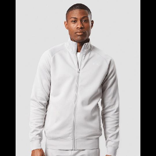 Workout Track Jacket, Light Grey