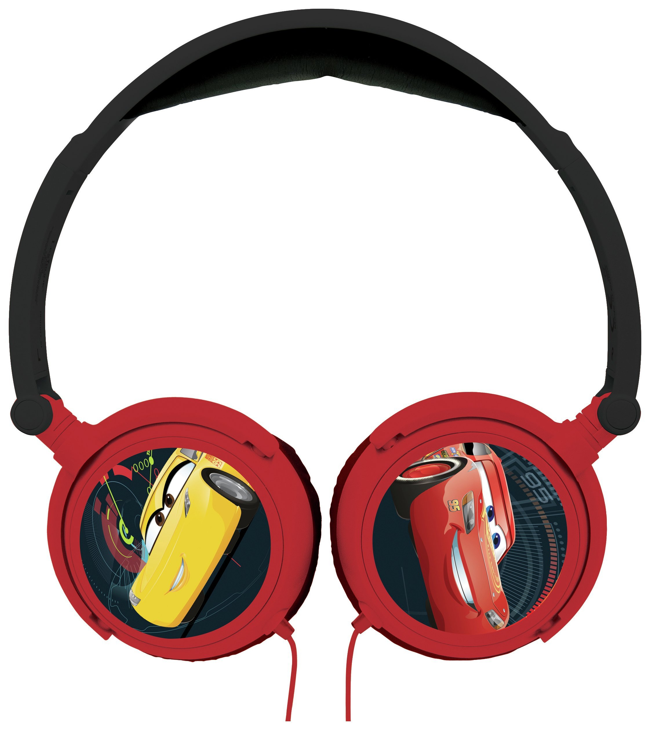 Lexibook - Disney Cars Stereo Wired Foldable Headphone with Kids Safe Volume (HP010DC)
