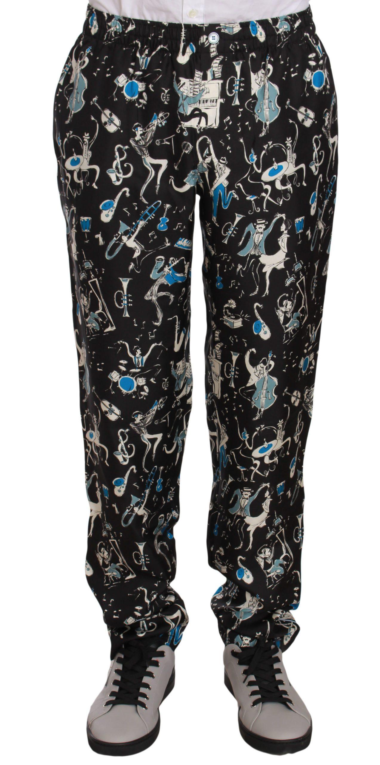 Dolce & Gabbana Men's Trousers Black PAN61303 - IT46 | S