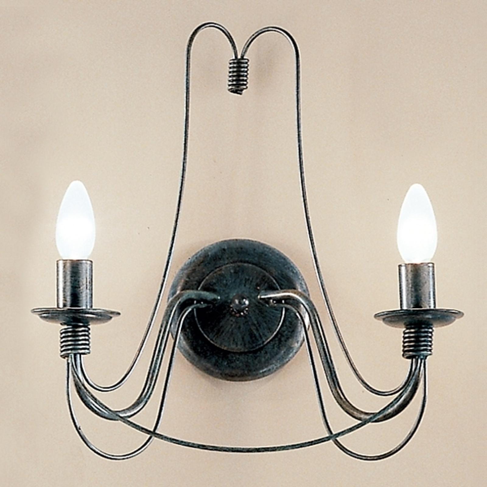 2-lamppuinen kattovalaisin CLARA maalaistyyliin