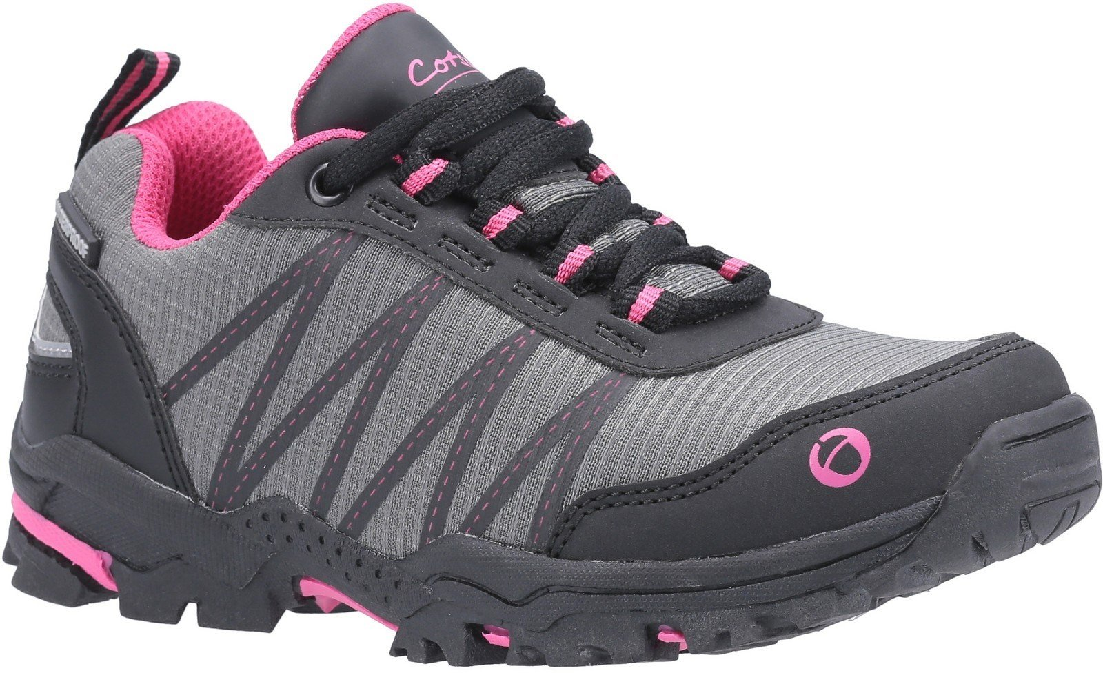 Cotswold Kids Littledean Lace Up Hiking Waterproof Boot Multicolor 30174 - Pink/Grey 10