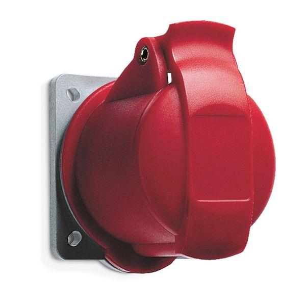 ABB 2CMA193154R1000 Seinäpistorasia 16 A, IP44 4-napainen, Punainen