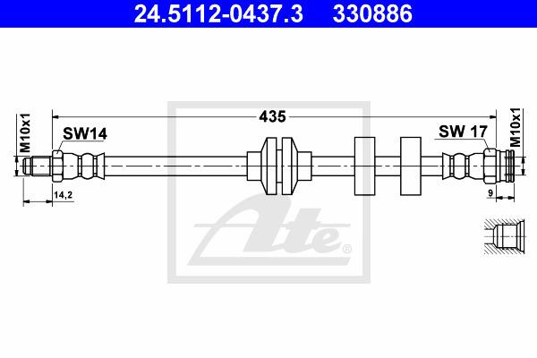 Jarruletku ATE 24.5112-0437.3