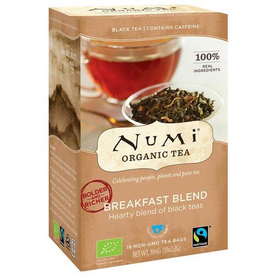 Numi Organic Tea Breakfast Blend, 18 påsar
