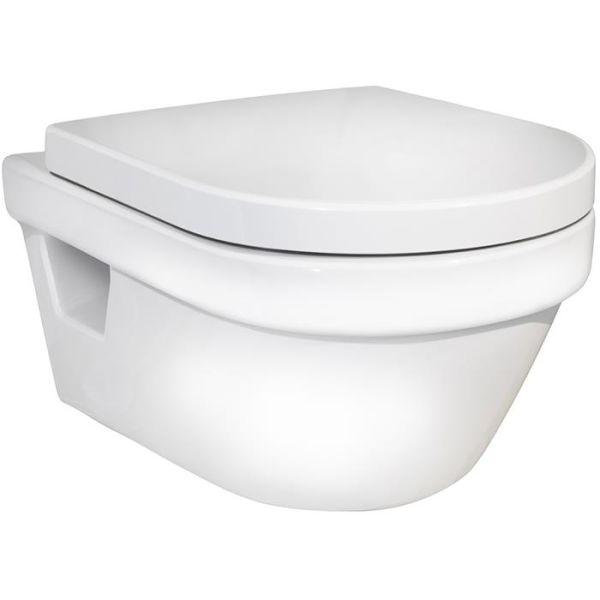 Gustavsberg 5G84 WC-istuin kovalla kannella