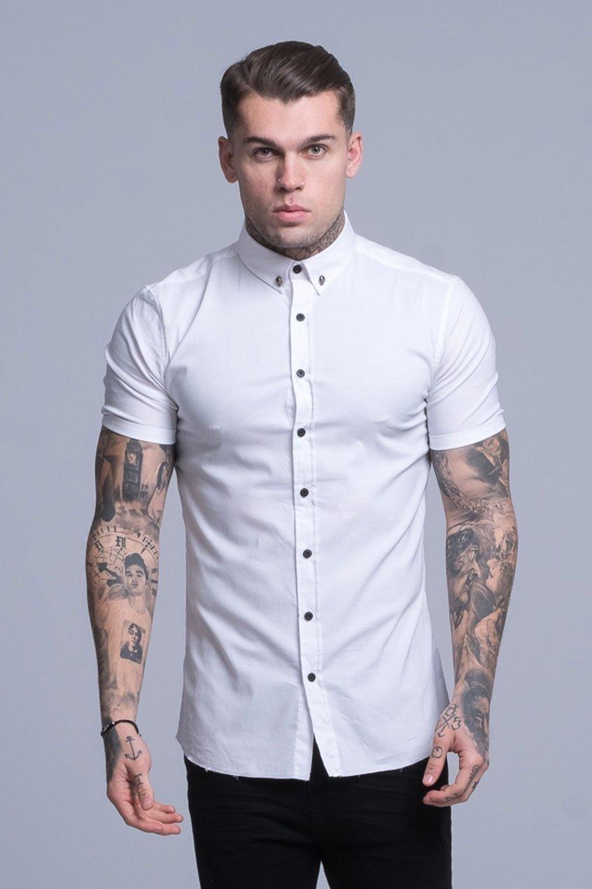 Smart Short Sleeved Disciple Men's Shirt - White, Small