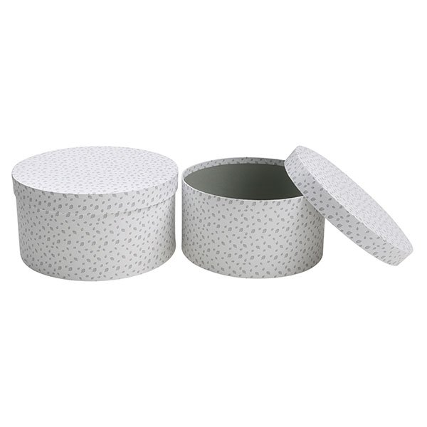 Vinter & Bloom - Forest Friends Storage Boxes - Grey Leaf