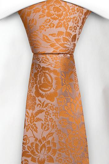 Silke Slips, Orange og champagne blomster, Oransje, Blomstrete
