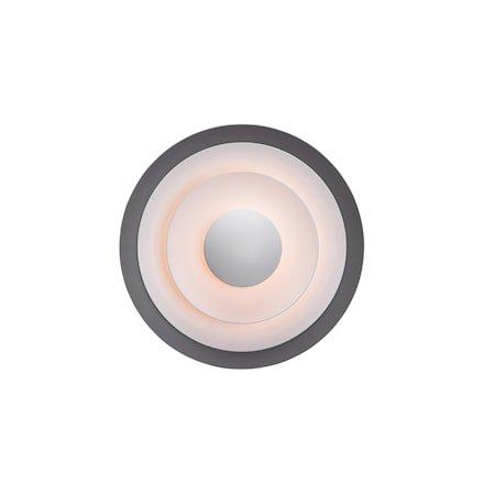 Diablo Vegglampe Grå/Blanksvart LED 30 cm fast installasjon