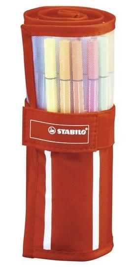 STABILO Filtspisspenner Premium 30-pack I Rullefodral