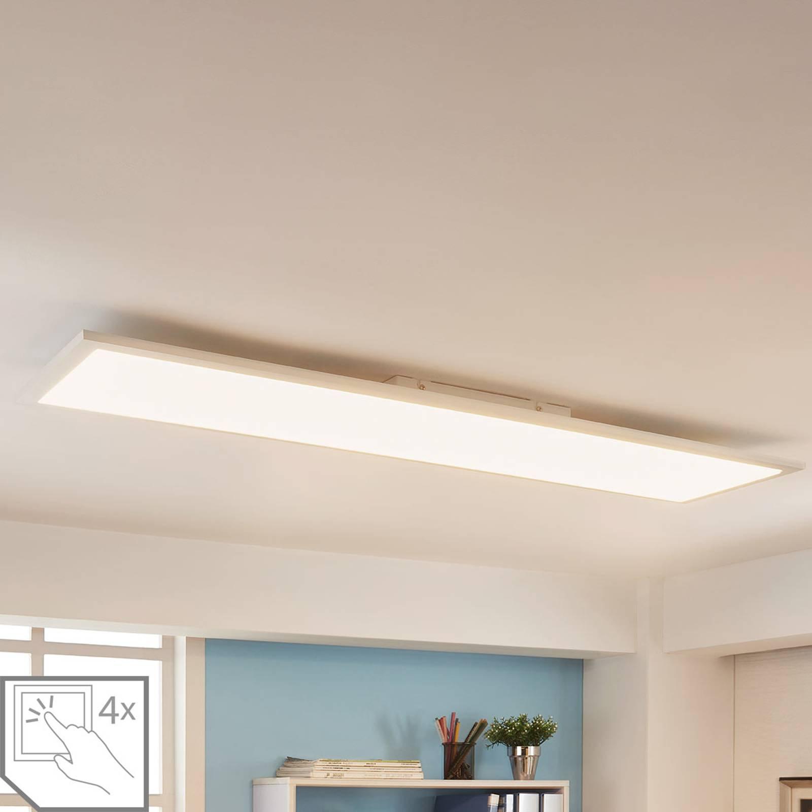 Firkantet LED-panel Enja, 120 x 30 cm