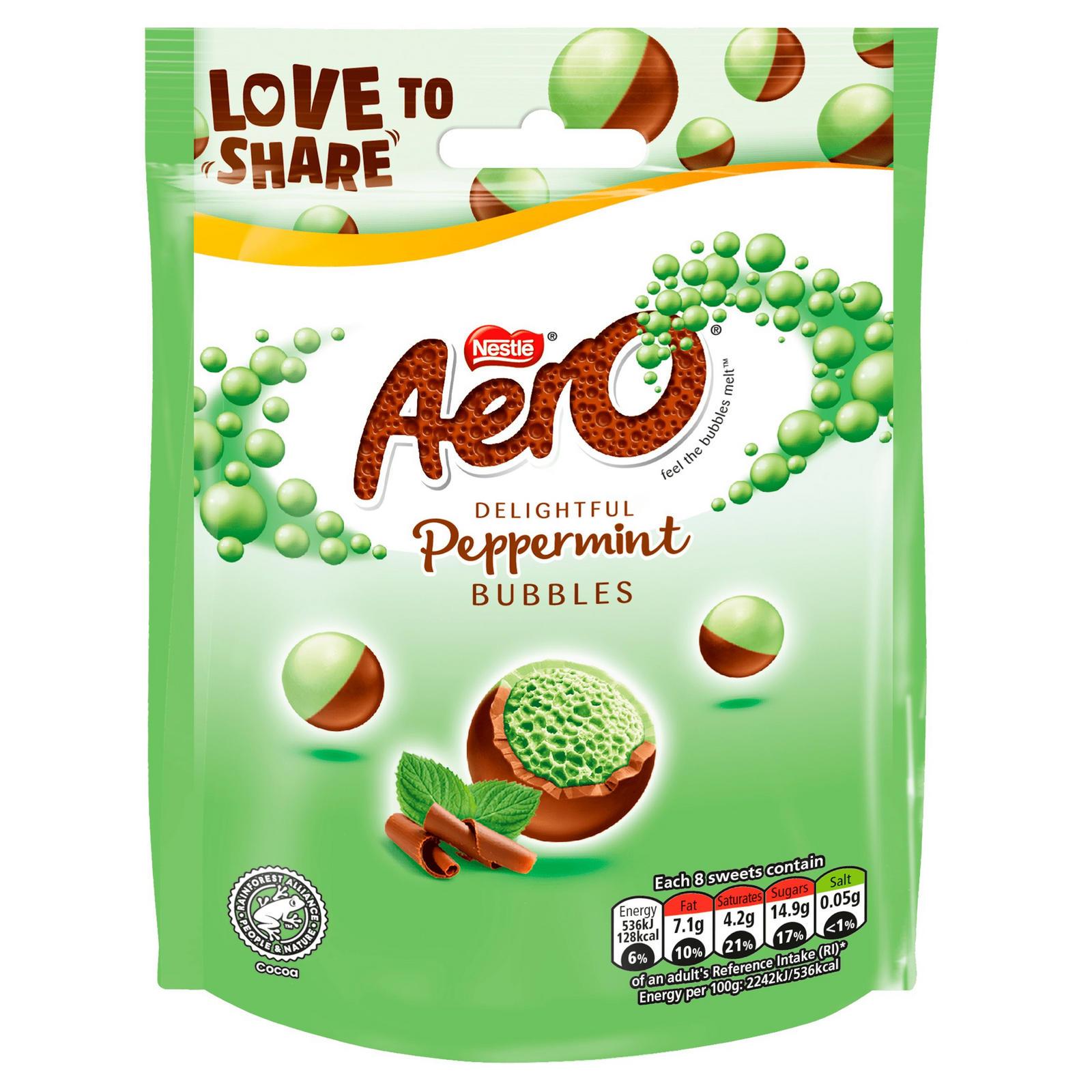 Aero Bubbles Mint Chocolate Bag 80g