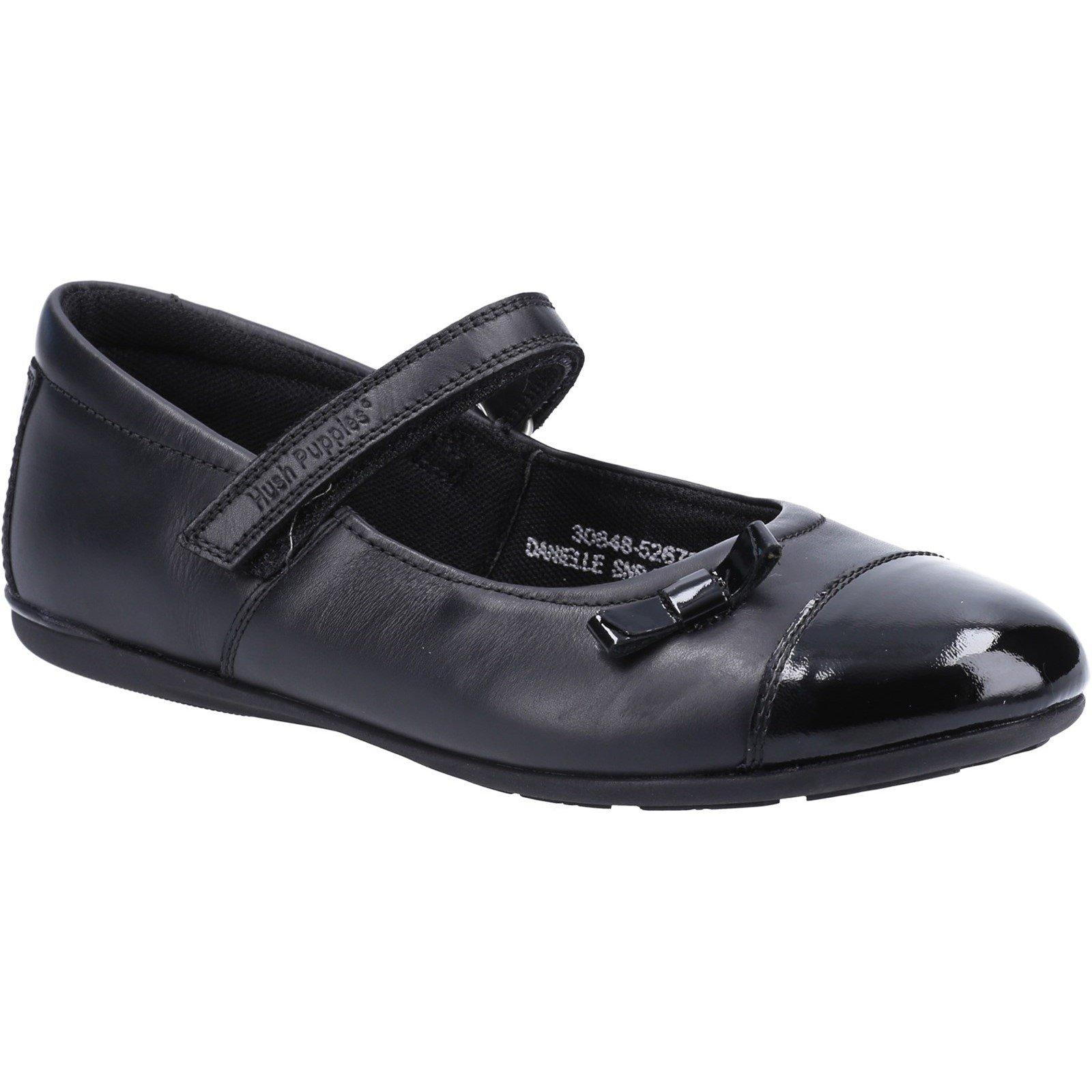 Hush Puppies Kid's Danielle Junior School Shoe Black 30847 - Black 13