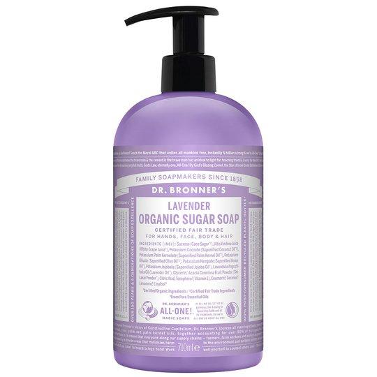 Organic Hand & Body Shikakai Soap Lavender, 710 ml Dr. Bronner's Luonnonkosmetiikka