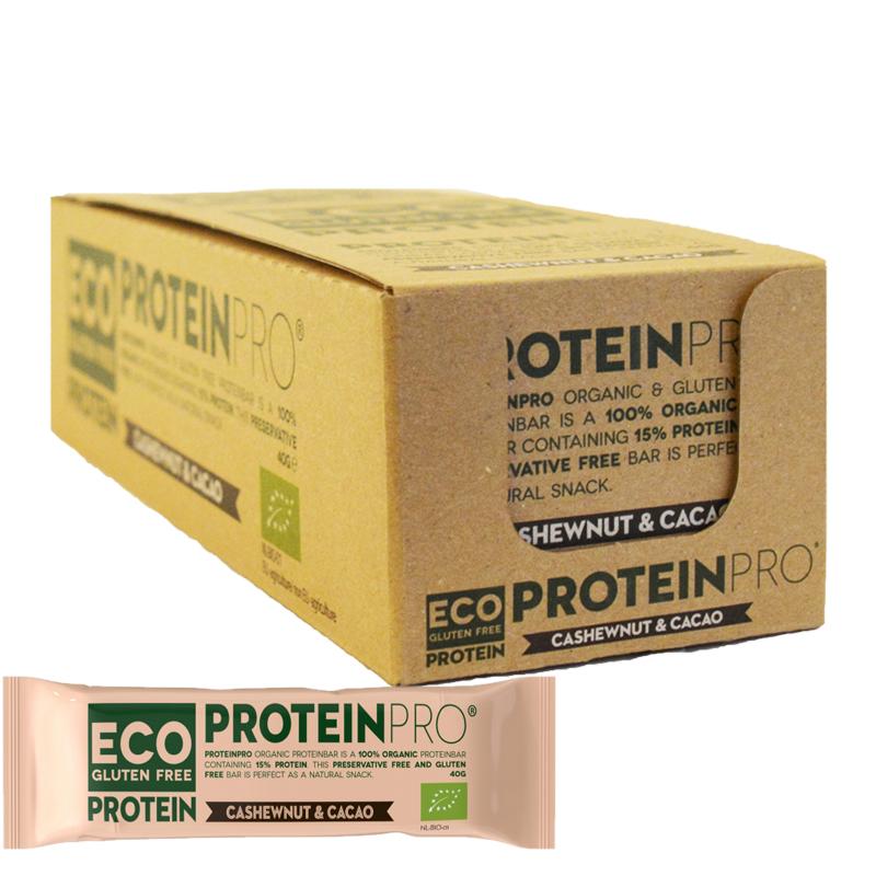 "Hel Låda Proteinbar ""Cashewnut & Kakao"" 16 x 40g - 48% rabatt"