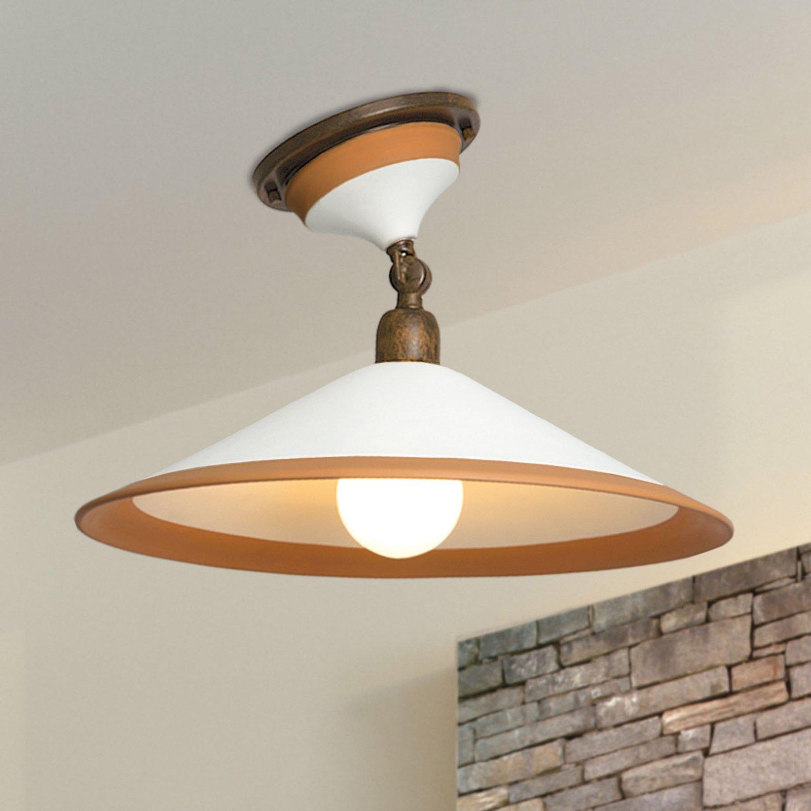 4560/PL41 taklampe, brun, hvit, oker