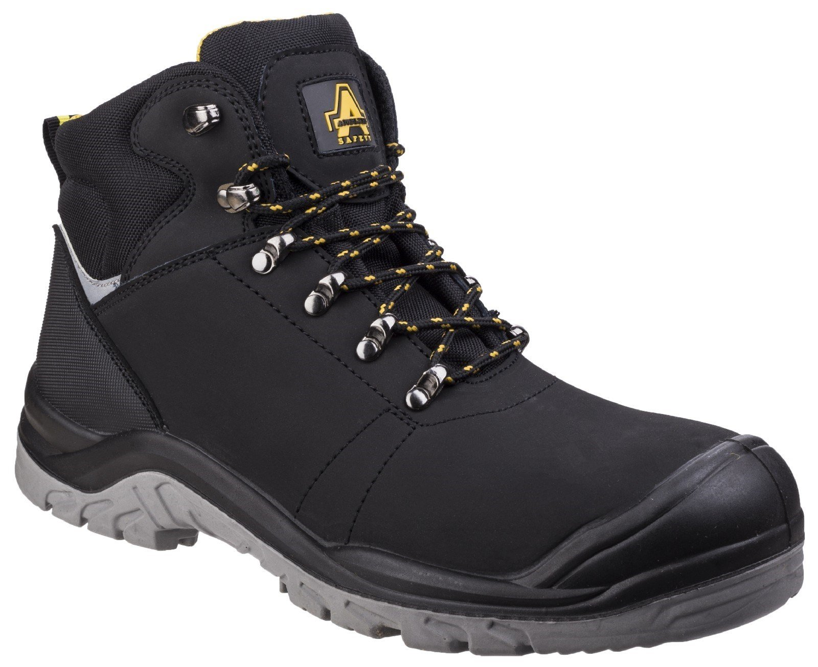 Amblers Unisex Safety Lightweight Water Resistant Leather Boot Black 25509 - Black 4