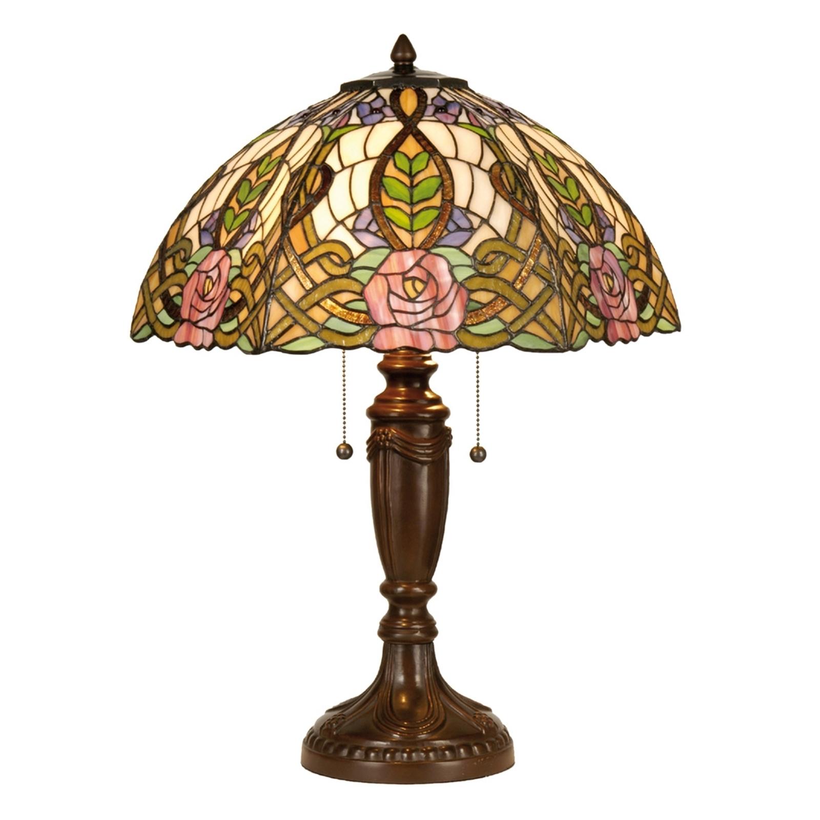 Tiffany-tyylinen Eden-pöytävalaisin