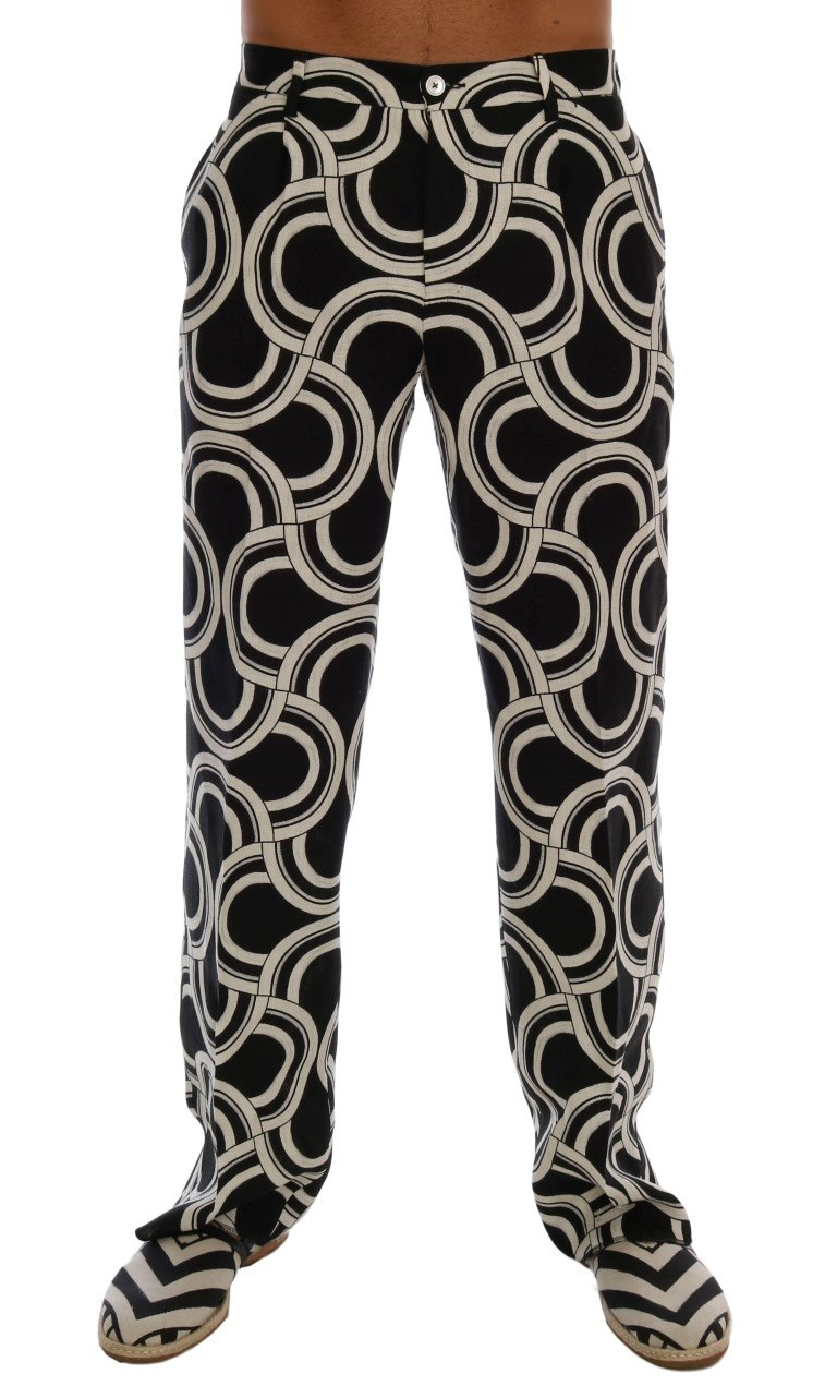 Dolce & Gabbana Men's Pattern Linen Trouser Multicolor PAN60737 - IT44 | XS