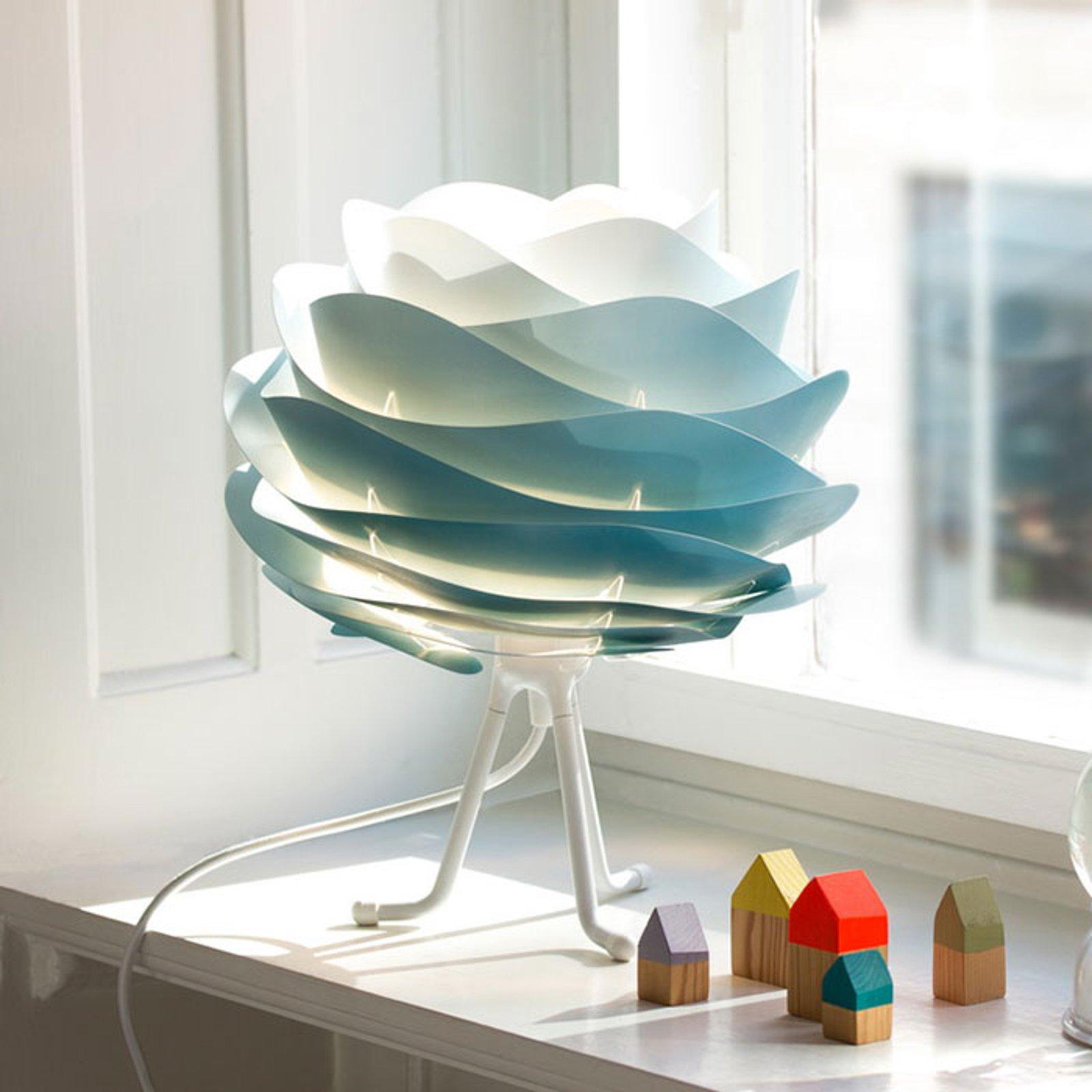 UMAGE Carmina Mini-bordlampe blå/tripod base hvit