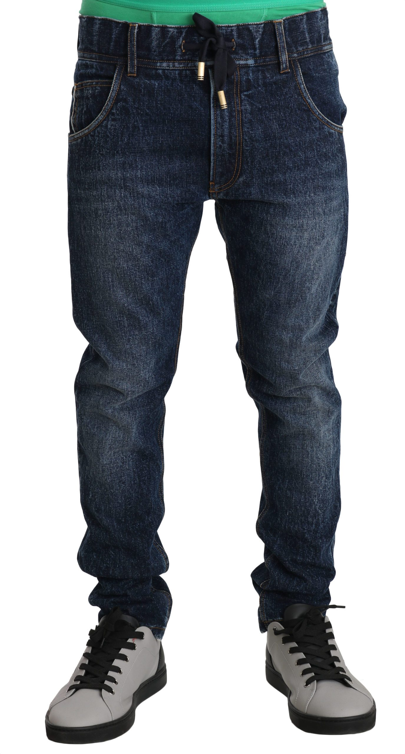 Dolce & Gabbana Men's Washed Slim Cotton Jeans Blue PAN70753 - IT44 | XS