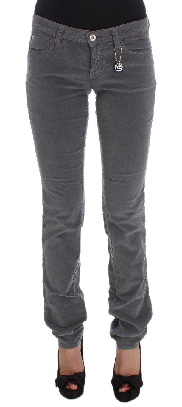 Costume National Women's Cotton Super Slim Corduroys Jeans Gray SIG32591 - W25