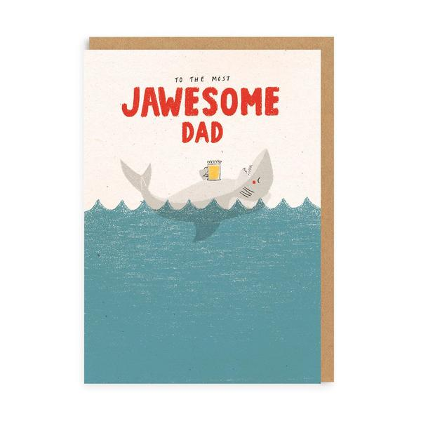 Jawesome Dad Greeting Card