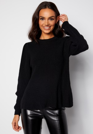 ONLY Stacy L/S O-Neck Pullover Black XS