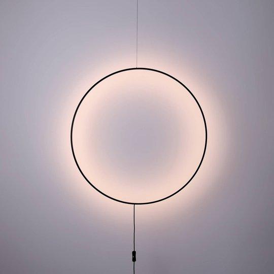 Shadow LED-vegglampe, sirkelformet, Ø 61 cm