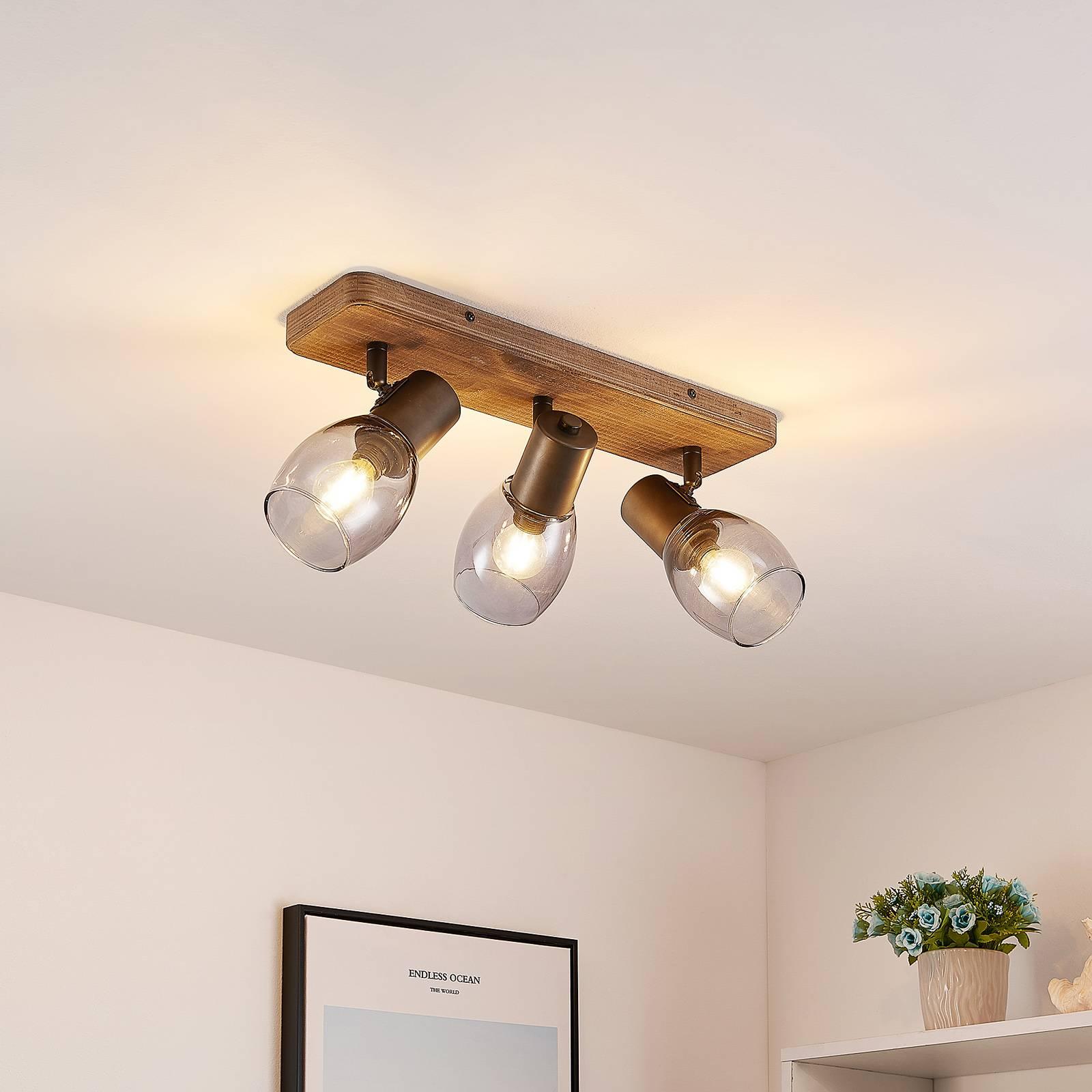 Lindby Ineska -kattokohdevalo 3-lamp. kulmikas