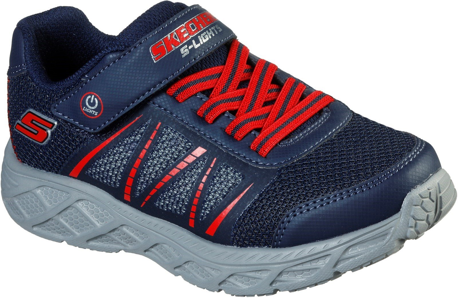 Skechers Kid's Dynamic-Flash Trainer Various Colours 31170 - Navy/Red 9.5