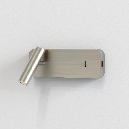 Astro Enna Surface USB LED-vegglampe, nikkel