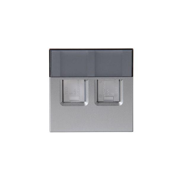 ABB 2TKA00001110 Midtplate 2xRJ45 Aluminium