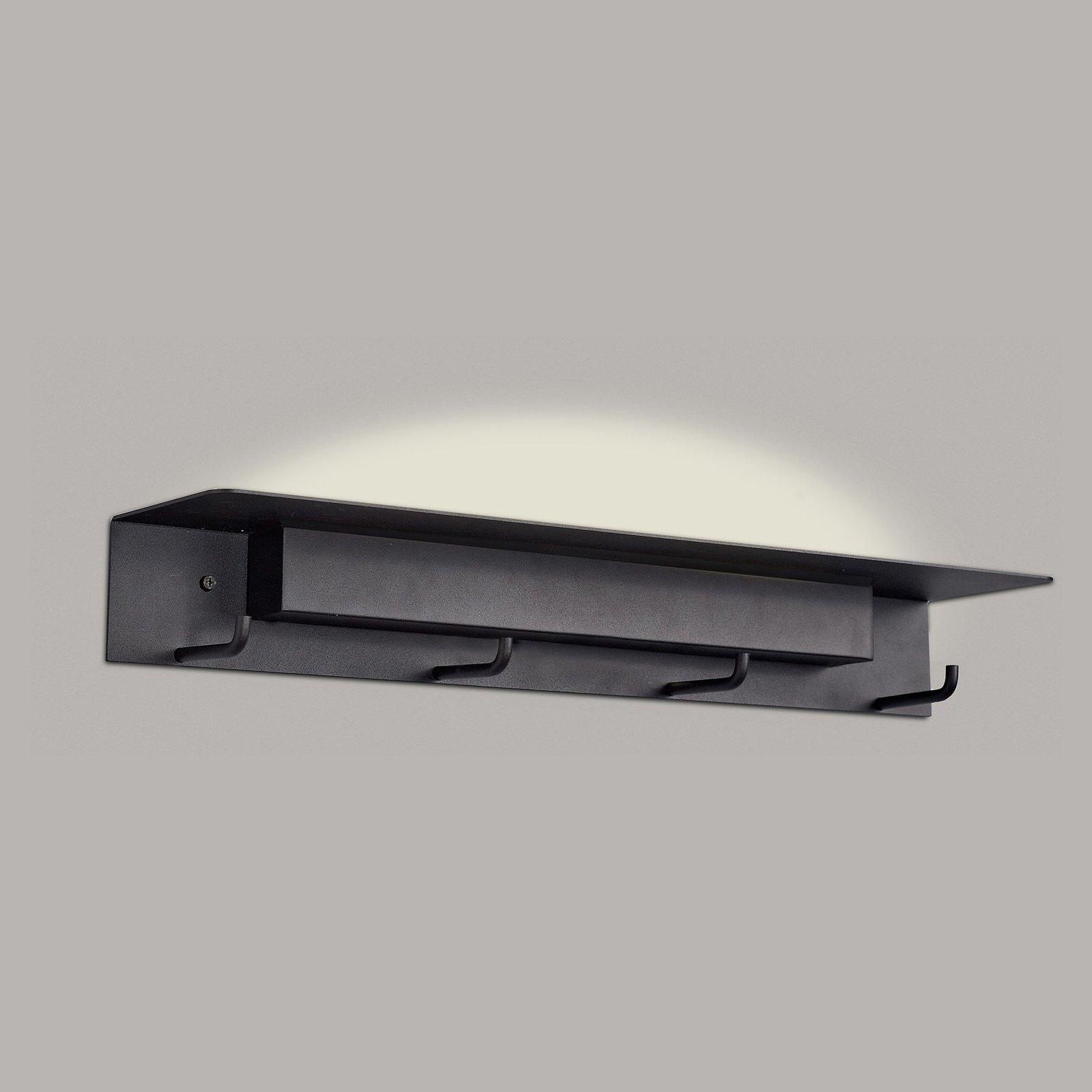 LED-vegglampe Fuerteventura, garderobe, svart
