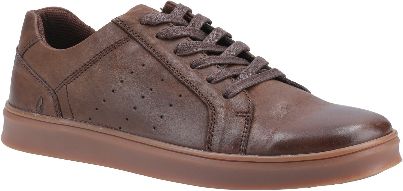 Hush Puppies Men's Mason Lace Trainer Various Colours 31973 - Coffee 7